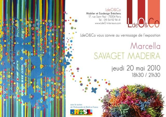 Invitation expo Paris, Marcella Savaget Madeira
