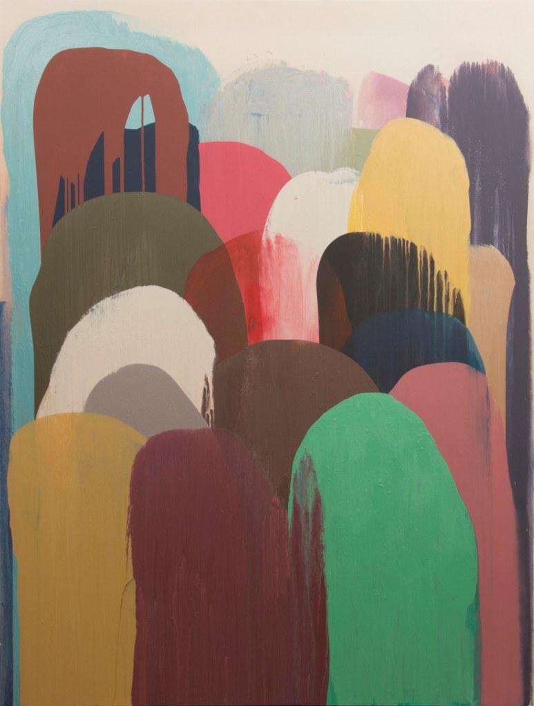 Marcella Madeira, Multidões III 2016, acrílica sobre tela, 160 x 120 cm